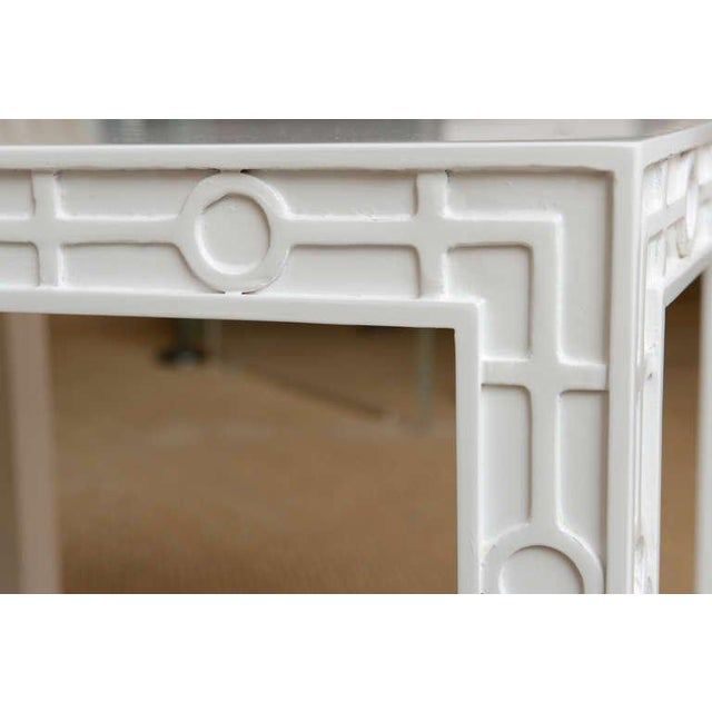 Wood Modern White Lacquered Graphic and Sculptural Side Tables - a Pair For Sale - Image 7 of 10