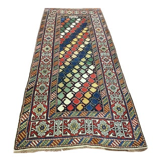 "19th Century Shirvan Caucasian Rug-3'4'x8'1"" For Sale"