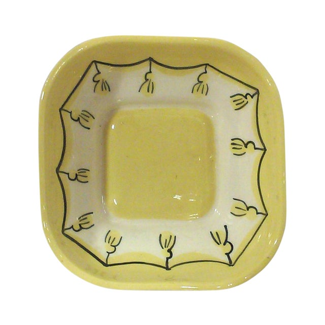 Yellow Ceramic Nut or Trinket Dish For Sale