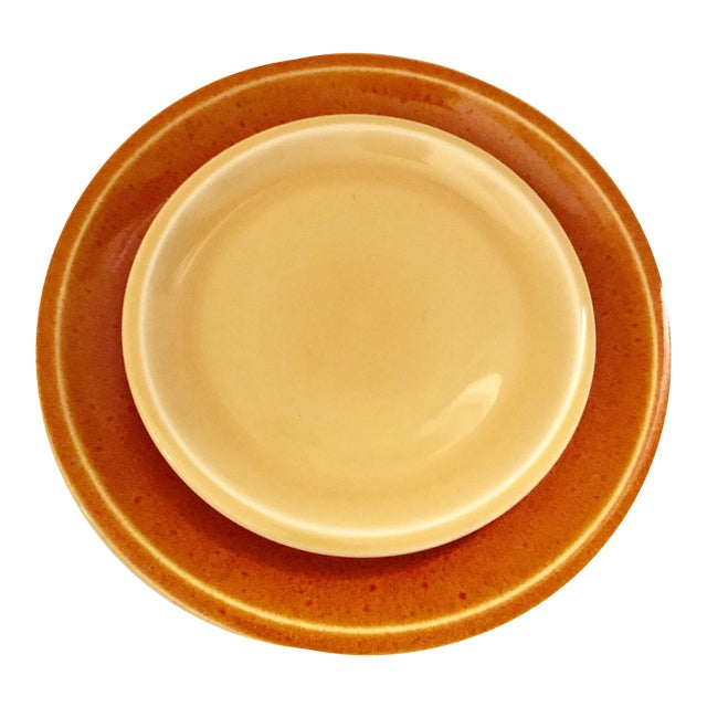 Jars of France Orange Dinner Plates & Yellow Salad Plates - 8 Pieces - Image 1 of 8