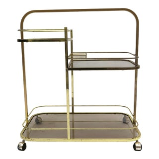 1960s Mid-Century Modern Milo Baughman Dia Iconic Bar Cart For Sale