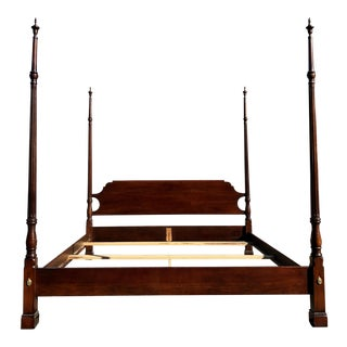 Solid Cherry California King Bed For Sale