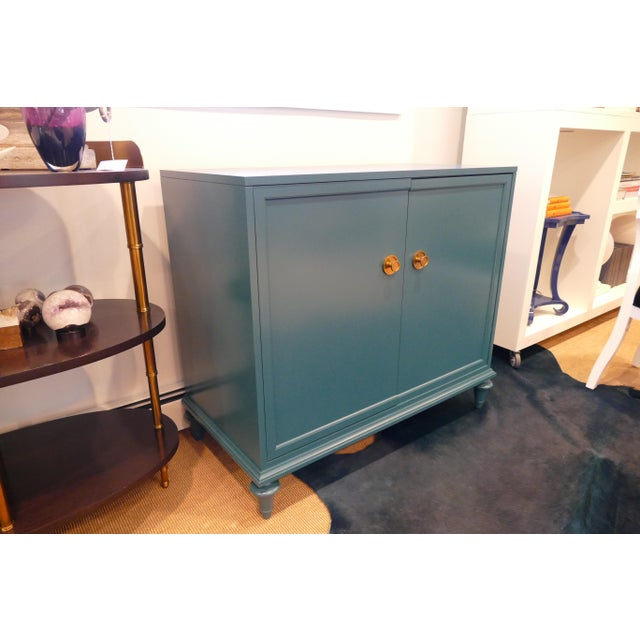 2010s Tea Century Chest With Gold Hardware For Sale - Image 5 of 11