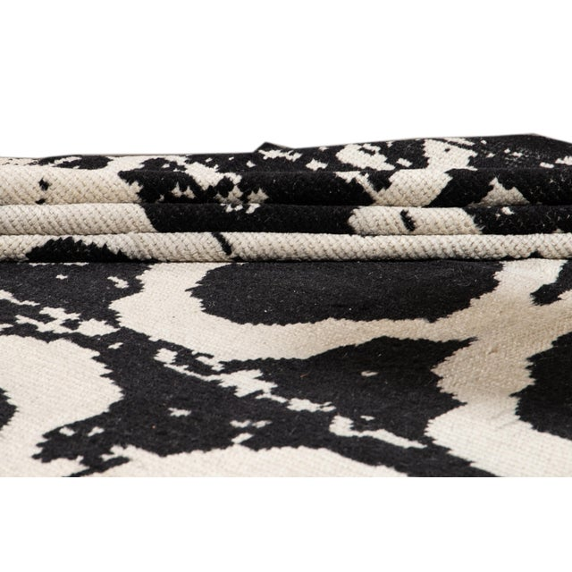 21st Century Modern Moroccan Style Wool Rug For Sale In New York - Image 6 of 13