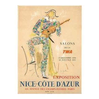 1954 Original French Vintage Poster, Salons De La Twa - Jean Cocteau