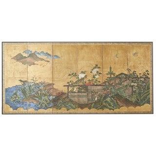 Japanese Edo Period Six-Panel Screen Summer Landscape For Sale