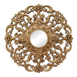 1960s Large Baroque Style Mirror For Sale