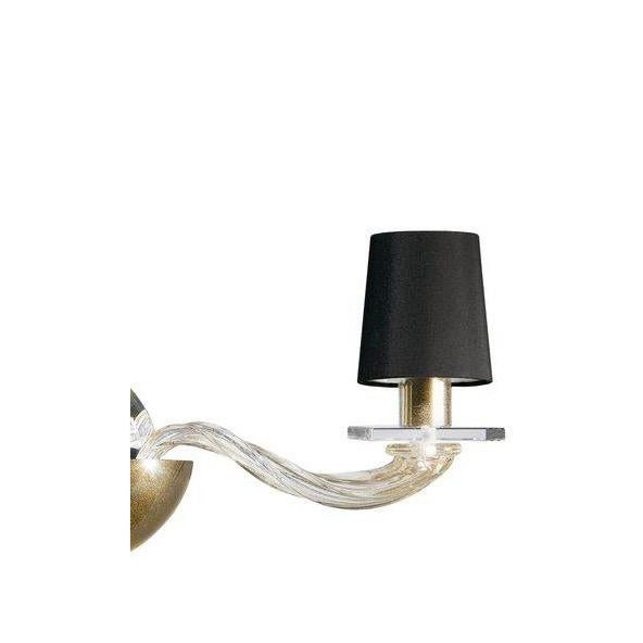 Italian Donghia -Stellare 2-Arm Gold Dust Murano Sconce For Sale - Image 3 of 11