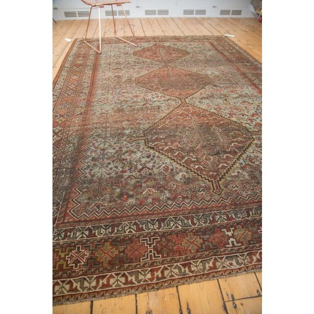 "Vintage Shiraz Carpet - 6'10"" X 9'9"" For Sale In New York - Image 6 of 10"