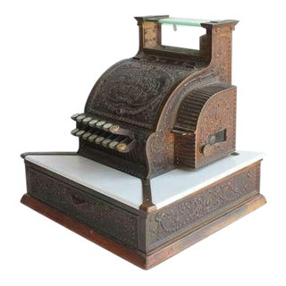 Early 20th C. Antique National Dayton Ohio Candy Store Decorative Cash Register For Sale