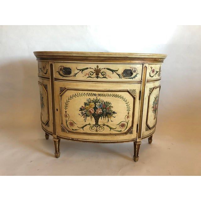 18th Century Style Demilune Cabinet For Sale - Image 12 of 12