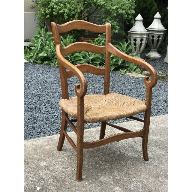 Rush 1980s Charles X Style Armchairs - Set of 6 For Sale - Image 7 of 9