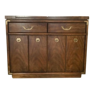 Drexel Heritage Accolade Campaign Style Flip Top Buffet For Sale
