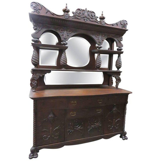 Renaissance Style Sideboard With Superstructure For Sale - Image 13 of 13