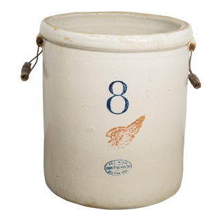 Ceramic 8 Gallon Crock by Red Wing Union Stoneware Company C.1915 For Sale