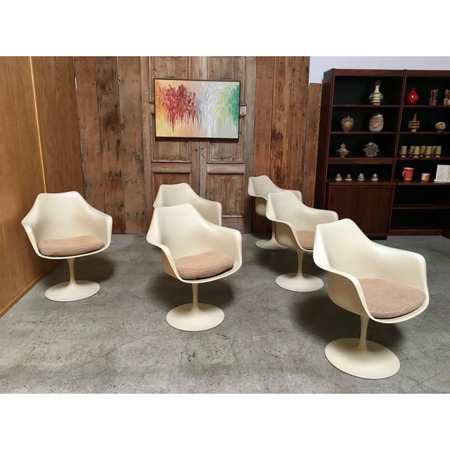 Mid 20th Century Vintage Mid Century Eero Saarinen for Knoll Dining Chairs- Set of 6 For Sale - Image 5 of 12