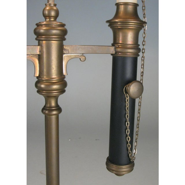 Metal Brass & Tole Empire Style Bouillotte Table Lamp For Sale - Image 7 of 8