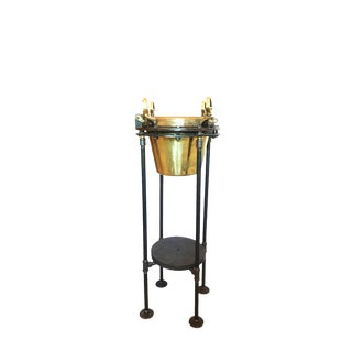 Brass Porthole Ice Bucket For Sale