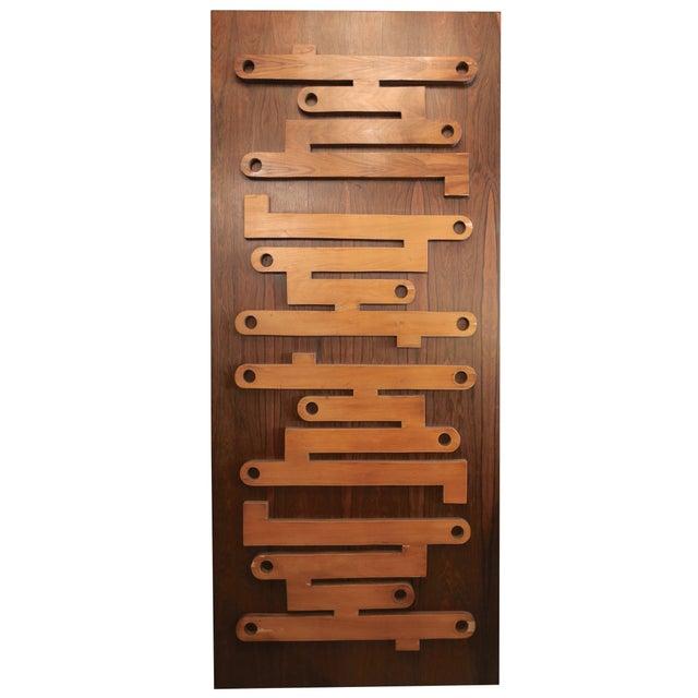 Brown 1960s Brazilian Jacaranda Decorative Panel or Door For Sale - Image 8 of 8