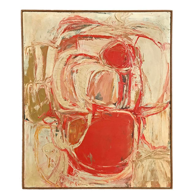 1961 Signed Abstract Expressionist Oil on Canvas Painting - Image 8 of 8