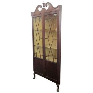 Hepplewhite Corner Display Cabinet For Sale