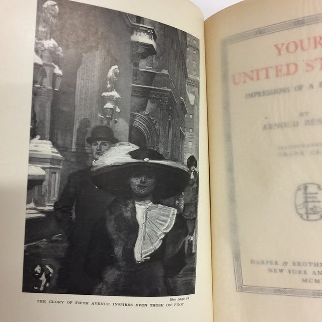 """Folk Art Arnold Bennett """"Your United States"""" 1912 Book For Sale - Image 3 of 10"""
