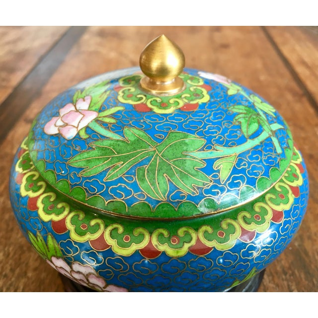 Asian 1970s Chinese Cloisonne Trinket Box For Sale - Image 3 of 13