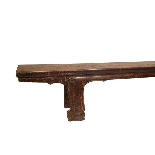 Hunan Long Elmwood Bench - Image 2 of 2