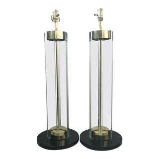 Fontana Arte Lamps by Max Ingrand, a Pair For Sale