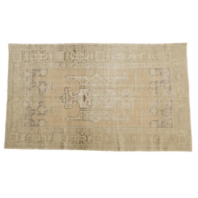 "Vintage Distressed Oushak Carpet - 5'6"" X 9'1"" For Sale"