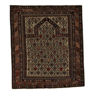 Early 20th Century Antique Daghestan Rug - 4′ × 4′9″ For Sale