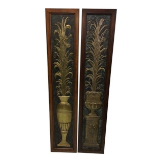 Boho Chic Maitland Smith Wall Panels - a Pair For Sale