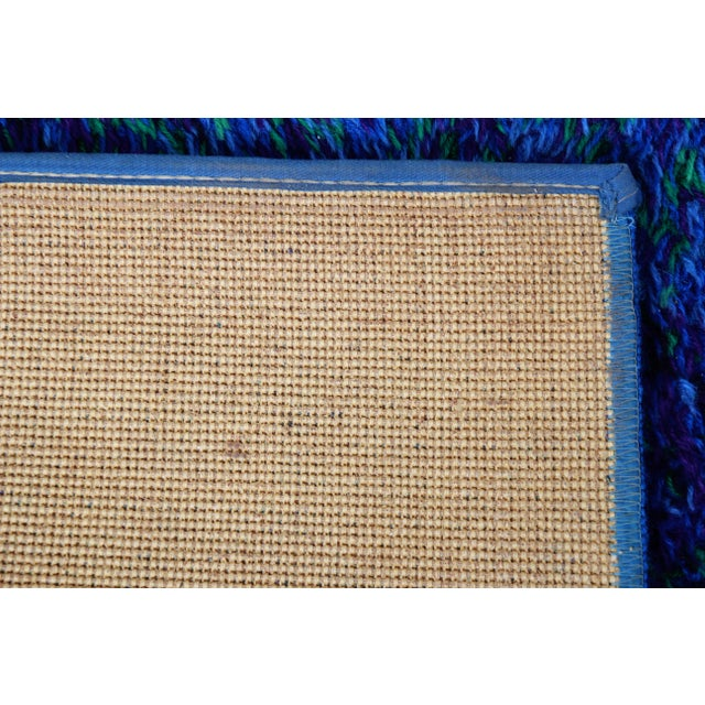 Textile Mid-Century Modern Danish Rya Style Shag Wool Area Rug, Circa 1970s For Sale - Image 7 of 9