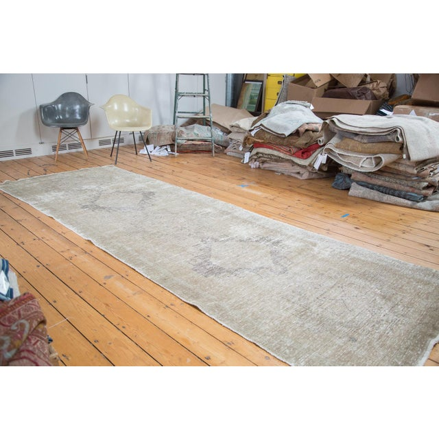 "Distressed Oushak Runner - 4'4"" X 12'9"" - Image 2 of 9"