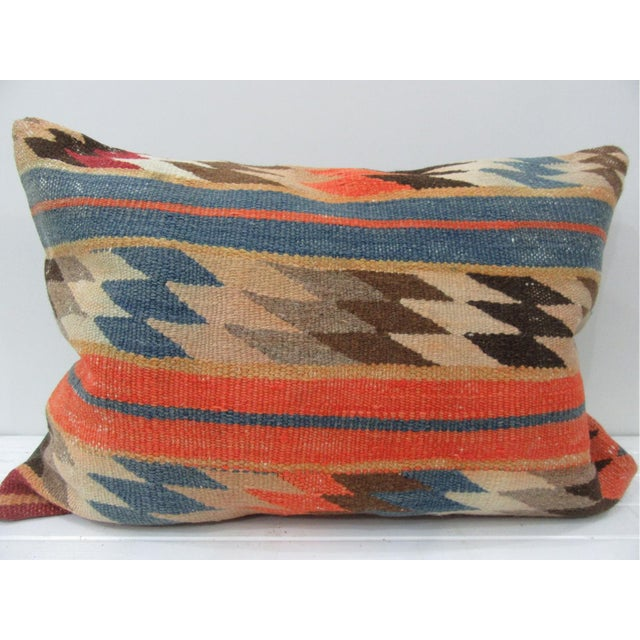 Vintage Turkish Kilim Pillow Cover For Sale - Image 4 of 4