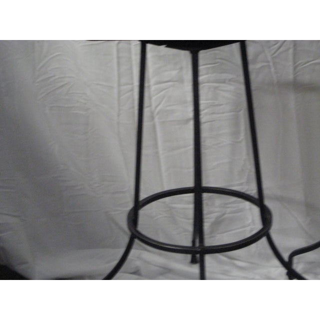 Arthur Umanoff Mid-Century Iron Bar Stools - Set of 4 For Sale - Image 6 of 10