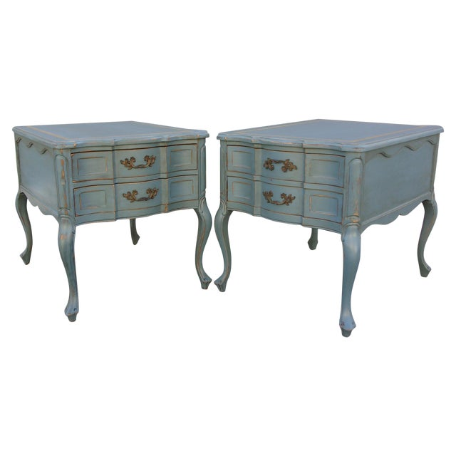 Vintage French Provincial Nightstands - A Pair - Image 1 of 10