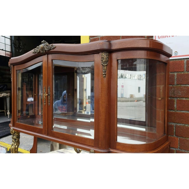 French 1950s French Louis XVI Style Walnut & Marble Top Dinning Room Hallway Cabinet For Sale - Image 3 of 13