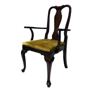 Ethan Allen Cherry Queen Anne Dining Captain's Armchair For Sale