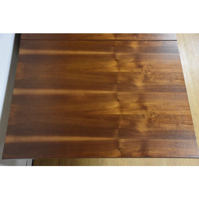Mid-Century Modern Walnut Dining Table and Self Storing Chairs - Set of 5 For Sale - Image 3 of 11