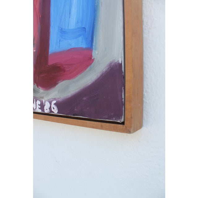 1986 Vintage Expressionist Painting For Sale - Image 5 of 10