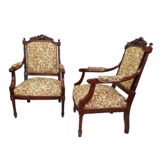 1910 French Louis XVI Arm Chairs - a Pair For Sale