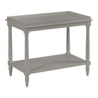 Casa Cosima Revere Side Table, Chelsea Gray For Sale
