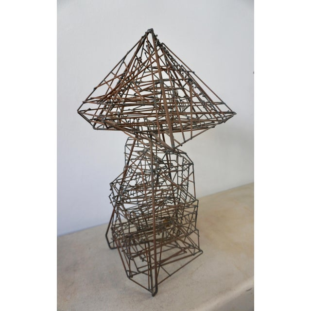 Abstract 1960s Abstract Guy Pullen Wire Sculpture For Sale - Image 3 of 8