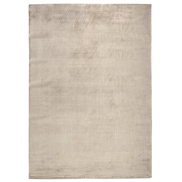 """Transitional Wyllis Hand loom Viscose Silver Rug-14'x18"""" For Sale - Image 3 of 3"""
