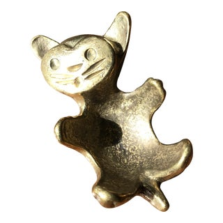 Walter Bosse Brass Cat For Sale
