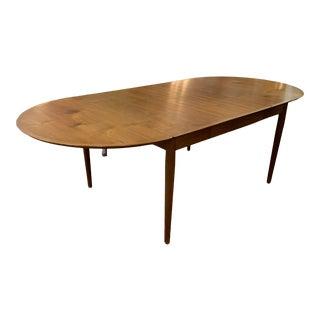 Vintage Mid Century Modern Hans Wegner Solid Oak Oval Drop Leaf Dining Table For Sale