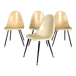 Chromecraft Mid-Century Modern Fiberglass Shell Chairs - Set Of 4