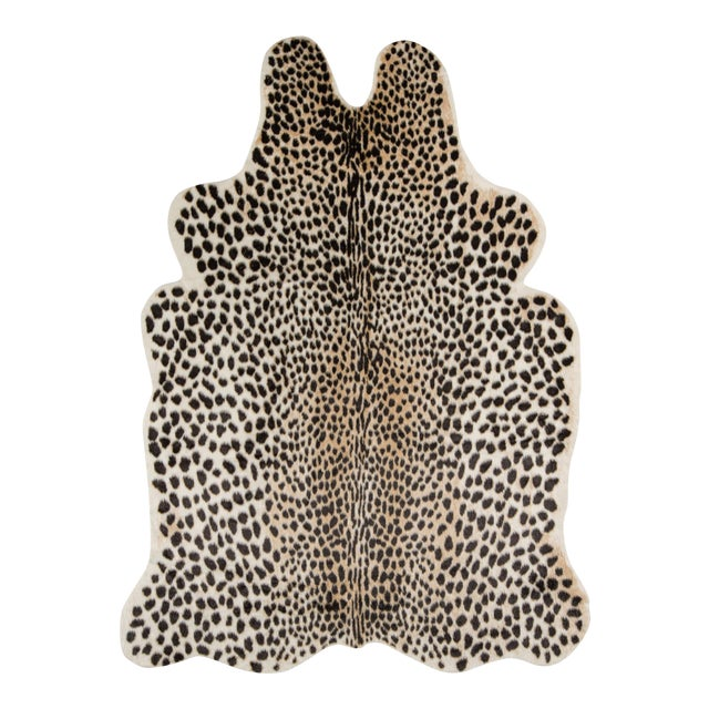 """Brown Erin Gates by Momeni Acadia Cheetah Multi Faux Hide Area Rug - 5'3"""" X 7'10"""" For Sale - Image 8 of 8"""