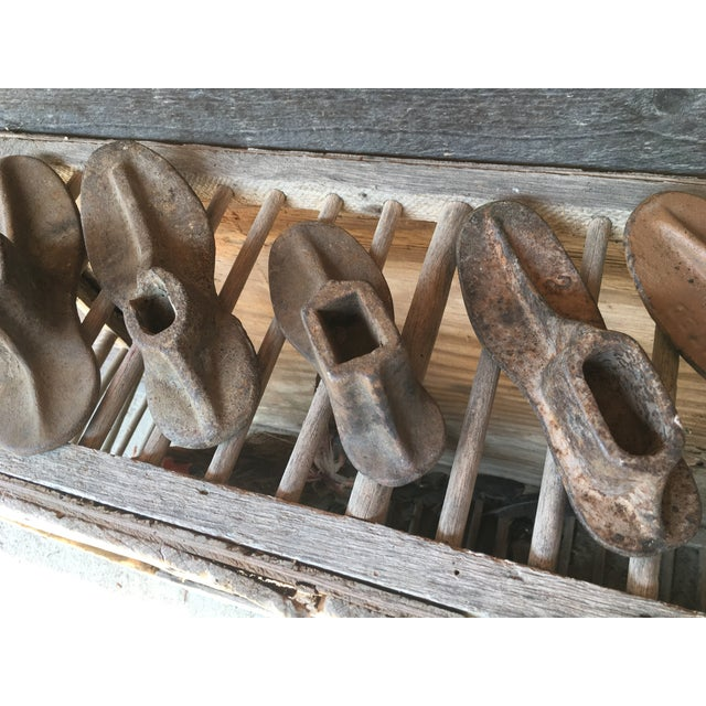 Vintage Industrial Iron Shoe Molds - Set of 5 - Image 6 of 8